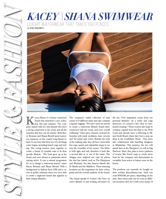KACEY | SHANA Swim June/July 2017 Issue